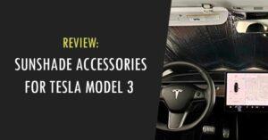 best Tesla Model 3 Sunshade