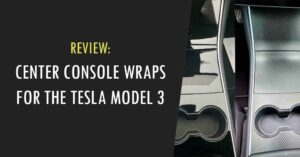 center console wrap for the model 3
