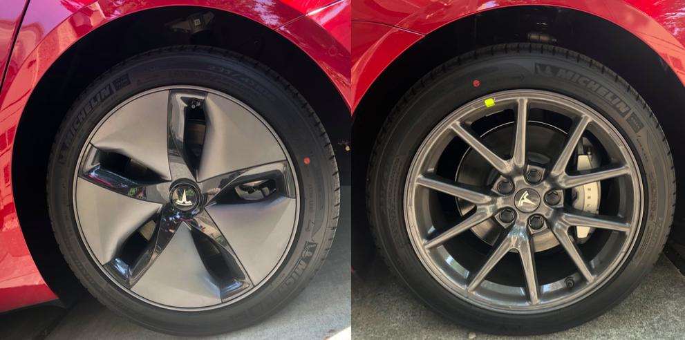 tesla aero wheels vs sport wheels