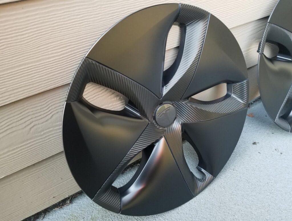 Model 3 Aero Wheel Carbon Fiber Wrap