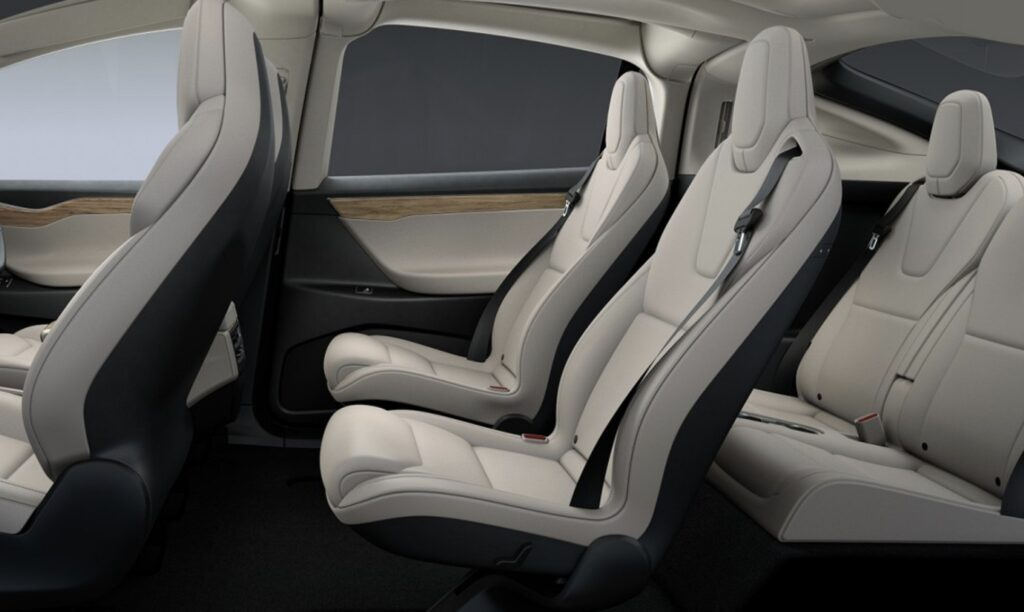 tesla model x 6-seater interior