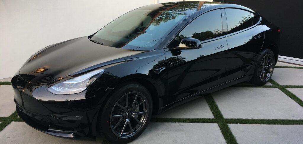 Black Chrome Delete and Tint Tesla Model 3