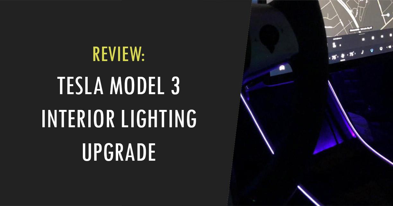 model 3 interior lightning