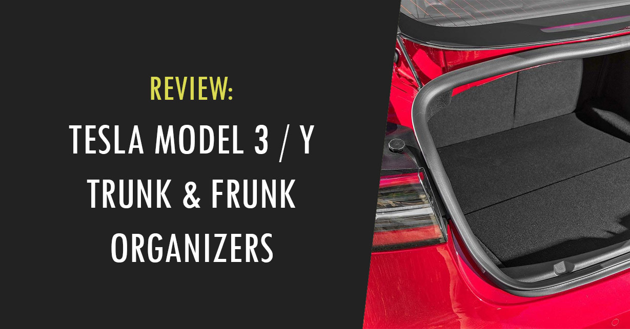 tesla model 3 y trunk frunk organizer