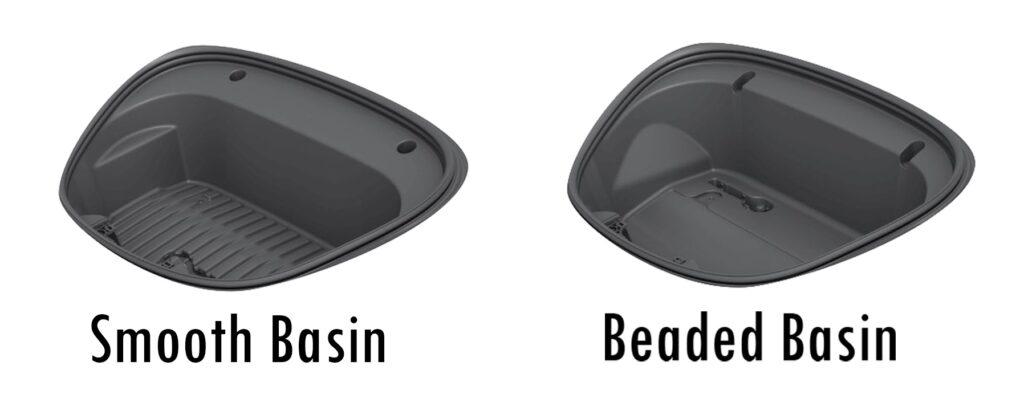 smooth basin and beaded basin