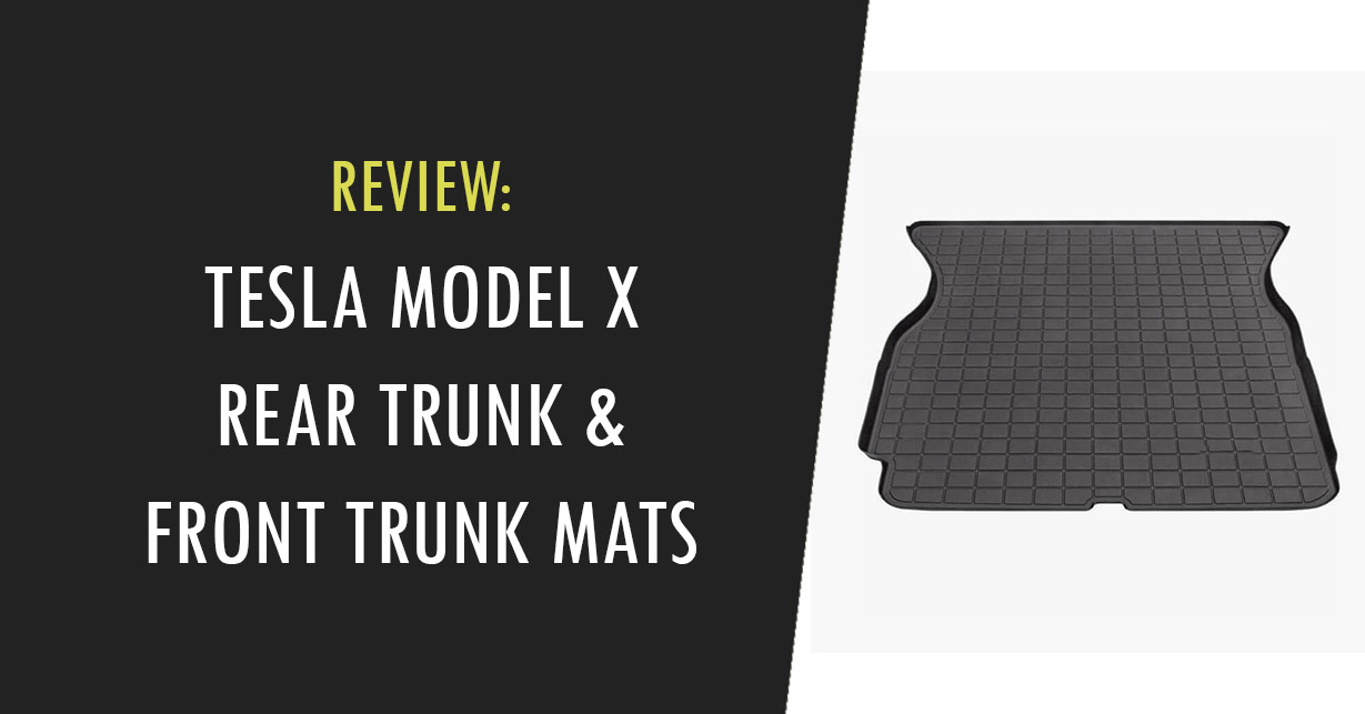 tesla model x trunk mats cargo liners