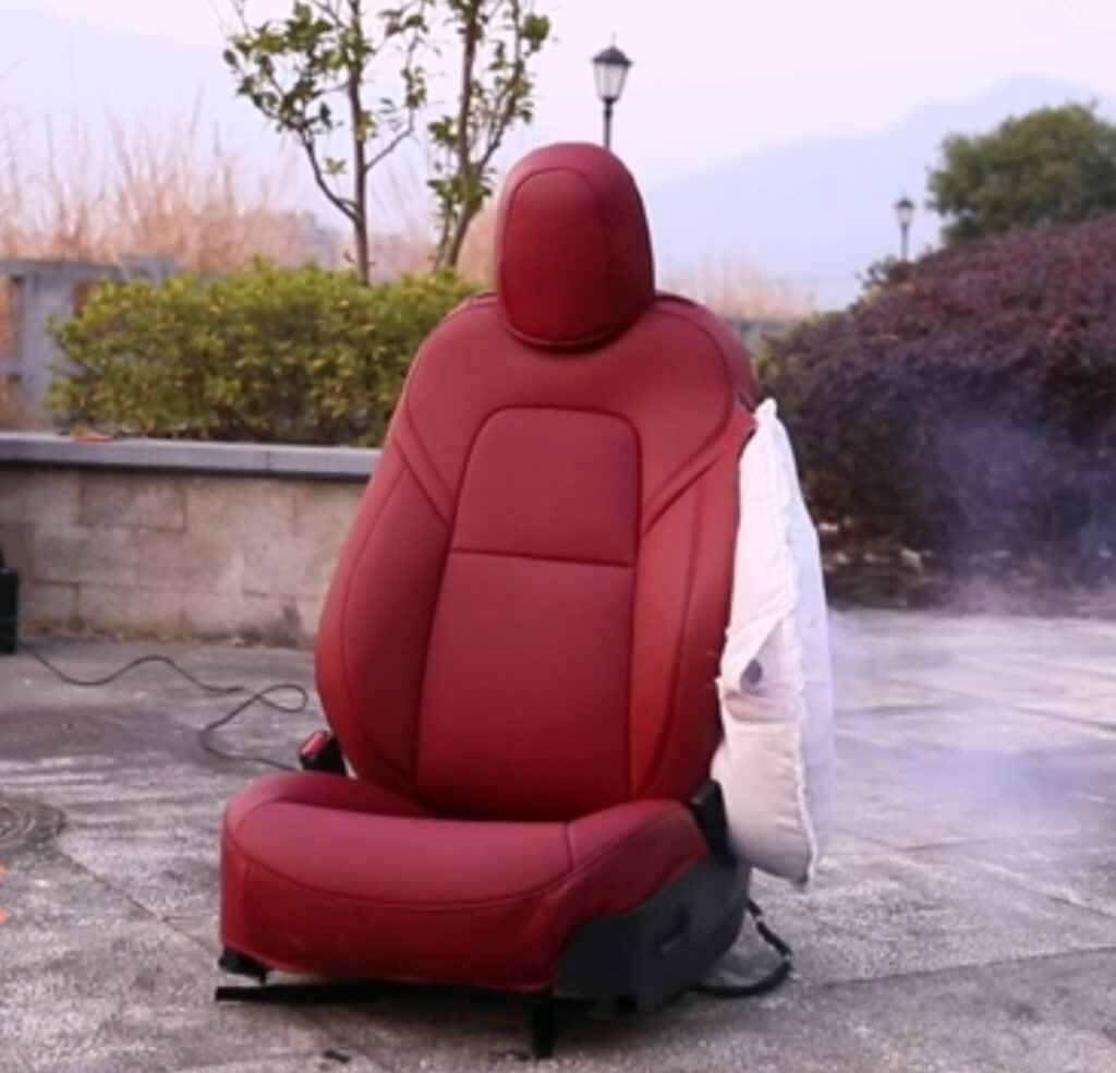 airbag deployment with seat covers