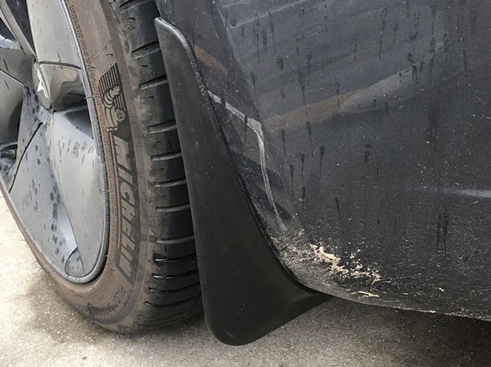 tesla with mud guards